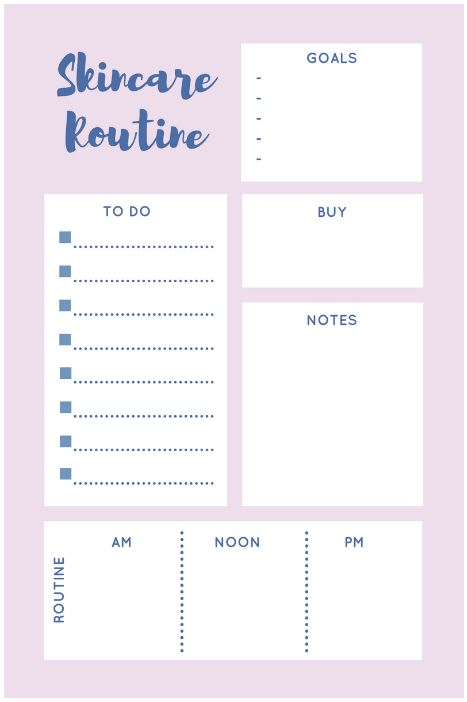 The Ultimate Skincare Routine A Printable Checklist